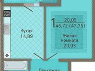 Продажа квартир: 1-комнатная квартира, Краснодар, Кубанская ул., 37, фото 1