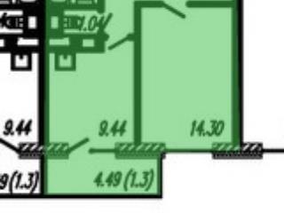 Продажа квартир: 1-комнатная квартира в новостройке, Санкт-Петербург, пр-кт Героев, 27к1, фото 1