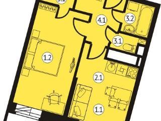 Продажа квартир: 1-комнатная квартира в новостройке, Московская область, Химки, Транспортный проезд, 7к2, фото 1