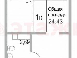 Продажа квартир: 1-комнатная квартира, Тюменская область, Тюмень, Интернациональная ул., 195стра, фото 1