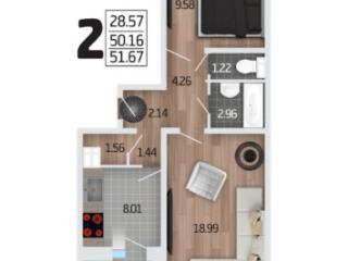 Продажа квартир: 2-комнатная квартира в новостройке, Воронеж, Краснодонская ул., фото 1