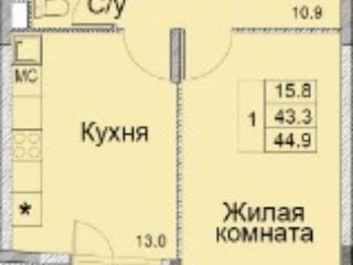 Продажа квартир: 1-комнатная квартира, Московская область, Королев, мкр. Болшево, Советская ул., 47, фото 1