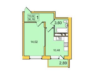 Продажа квартир: 1-комнатная квартира в новостройке, Владимир, мкр. Пиганово, Центральная ул., 10, фото 1