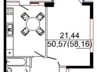 Продажа квартир: 1-комнатная квартира, Краснодар, Рождественская Набережная ул., 49, фото 1