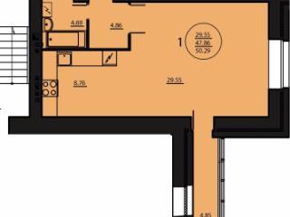 Продажа квартир: 1-комнатная квартира, Красноярск, Якорный пер., 12, фото 1