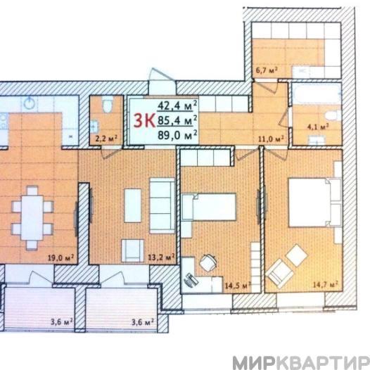 Продам квартиру в новостройке Тюменская область, Тюмень, Полевая ул., 105