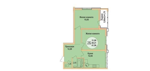 Продажа квартир: 2-комнатная квартира, Краснодар, Агрохимическая ул., фото 1