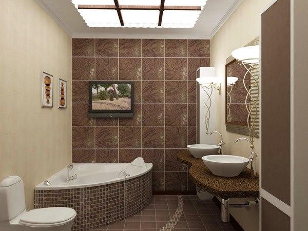 Дизайн коричневой ванной комнаты фото