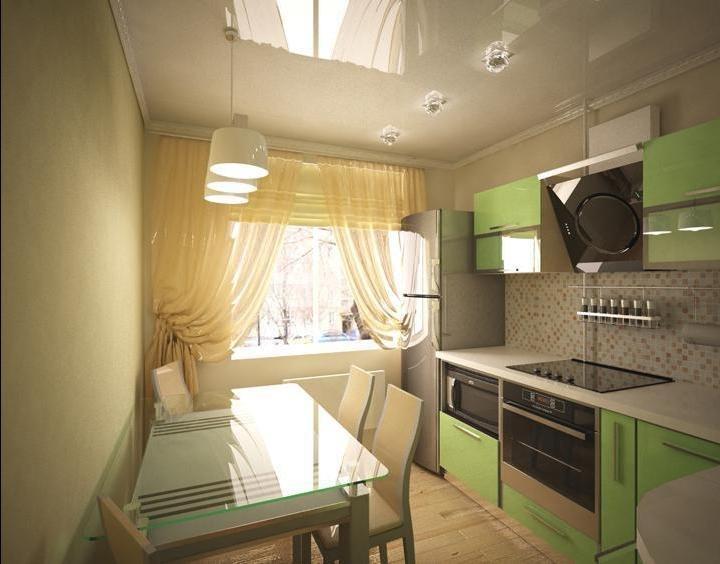Кухня 9 кв метров с балконом..