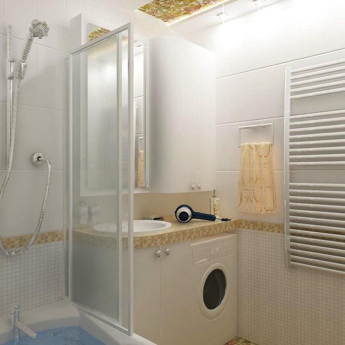 Дизайн ванной комнаты 4 кв.м фото с