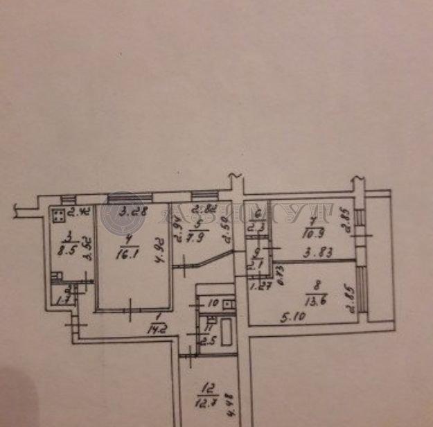 Продается пятикомнатная квартира за 5 100 000 рублей. г Тула, ул Галкина, д 15.
